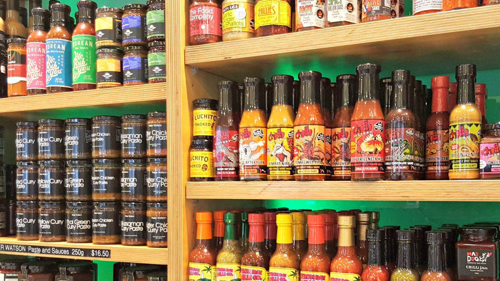One of the deli shelves.