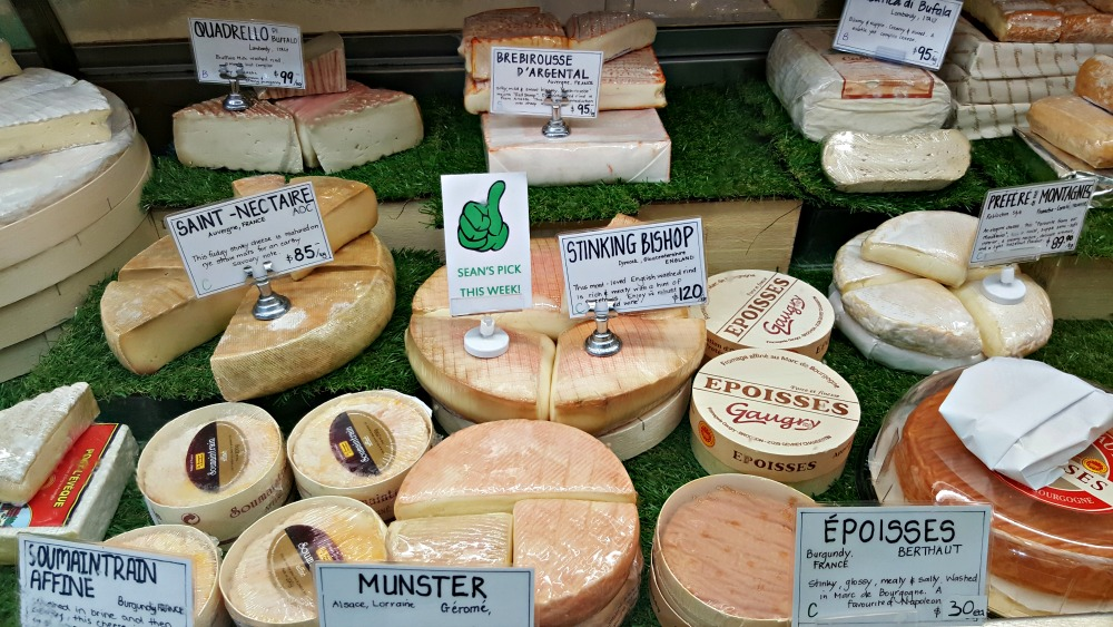 Cheese deli with Stinking Bishop cheese!