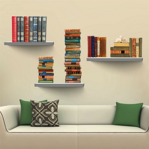 Book mural removable wall stickers