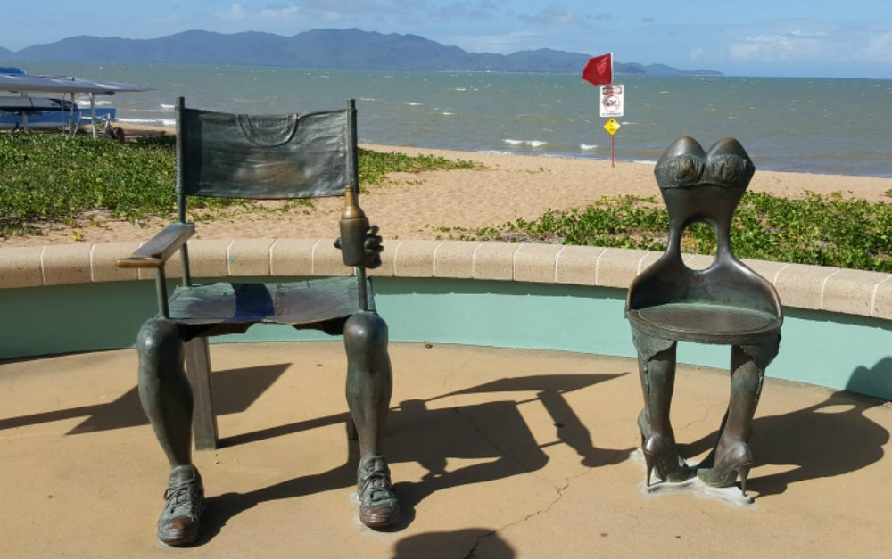 Bazza and Shazza Sculpture, The Strand, Townsville