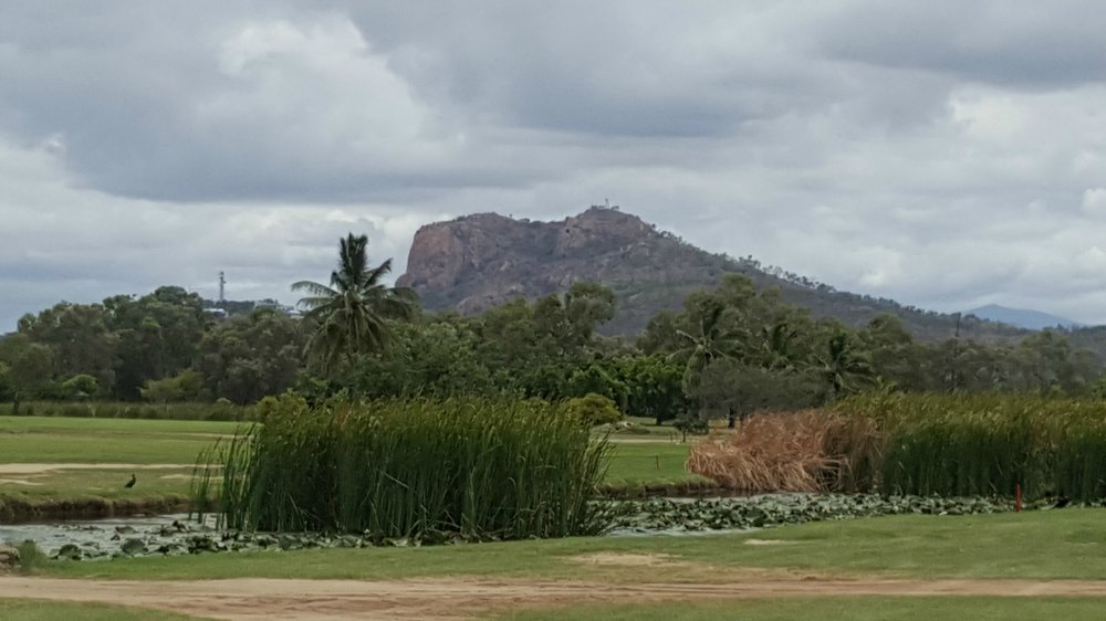 Castle Hill viewed from Rowes Bay Golf Club