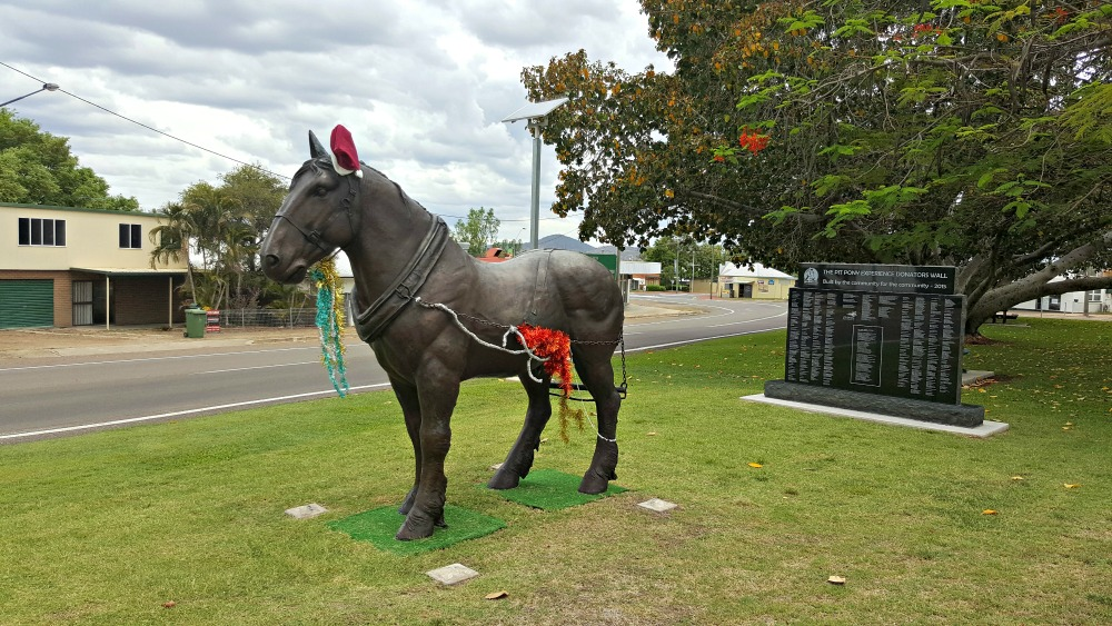 Pit pony statue, Collinsville