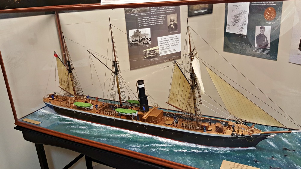 A model of the steamship Admella in the Port MacDonnell and District Maritime Museum.