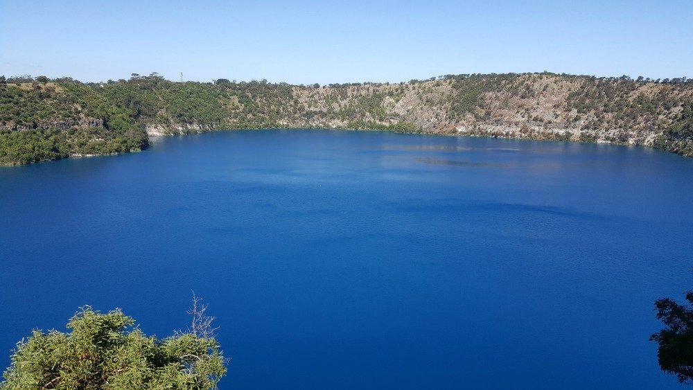 Mount Gambier's famous Blue Lake.
