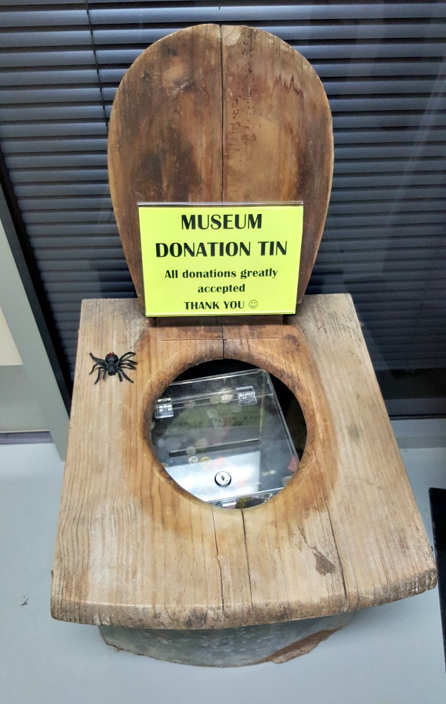The donation box at the Port MacDonnell and District Maritime Museum.