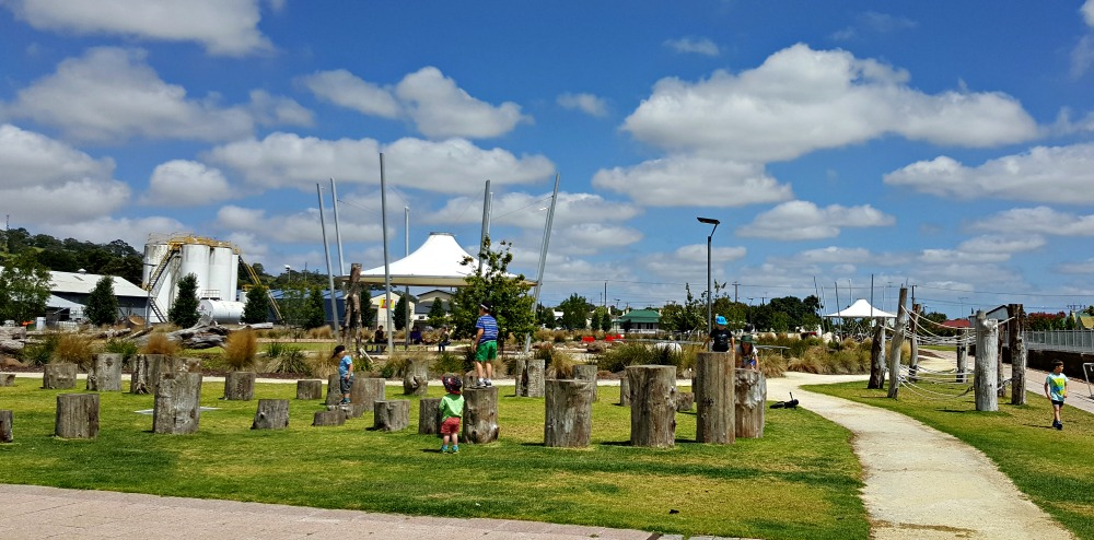 One of the playground areas at the railway lands.