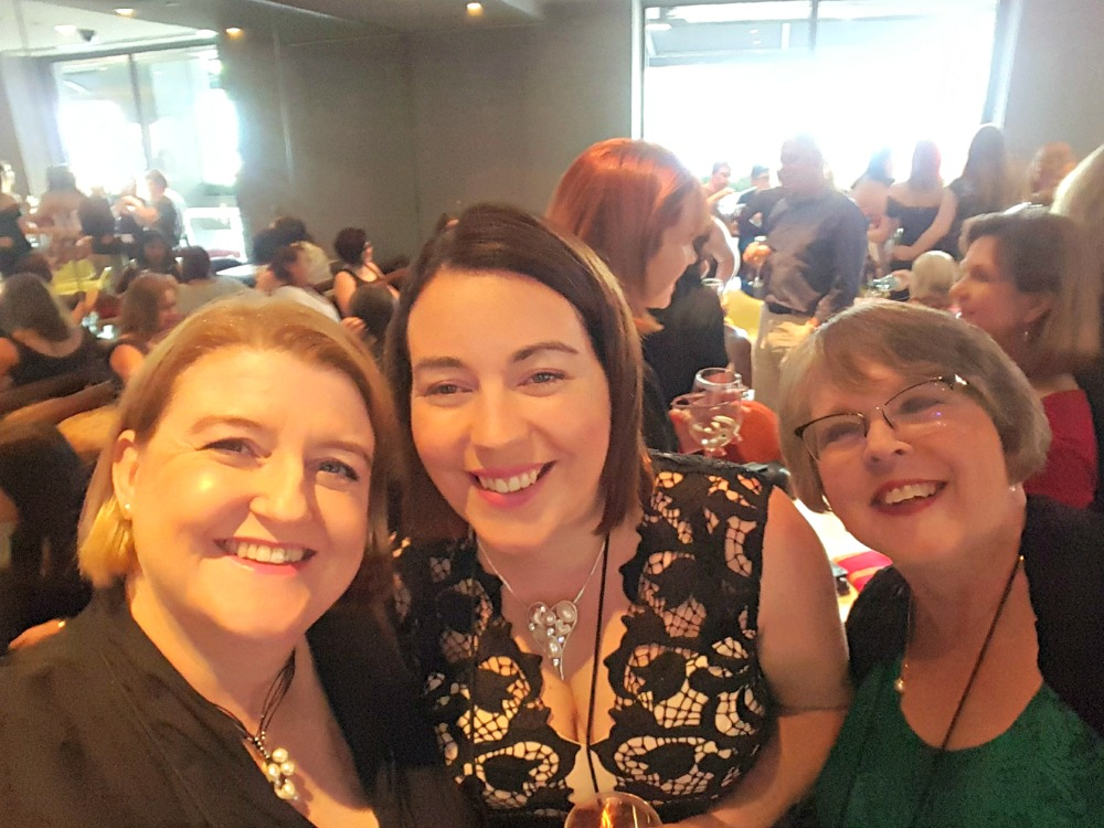 Me, Rachael Johns and Alison Stuart at the Harlequin author welcome drinks.