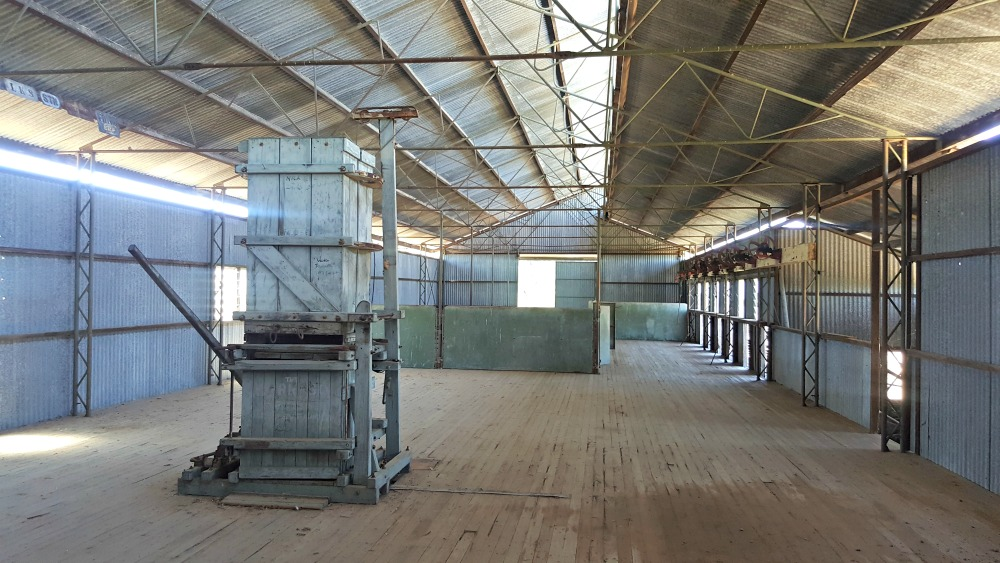 Bladenburg's old shearing shed.