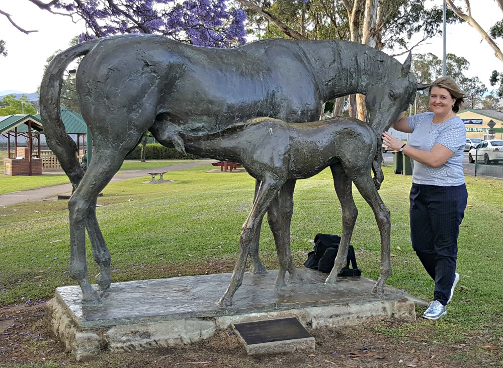 Scone's gorgeous mare and foal statue