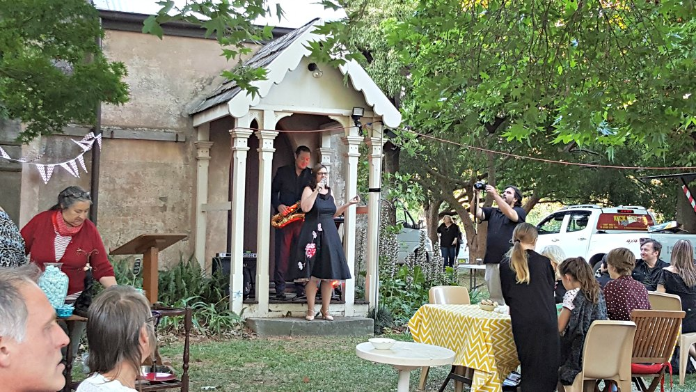 Soiree in the gardens, Scone Literary Festival 2017