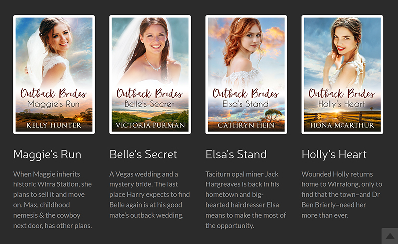 Outback Brides series with covers and short blurbs