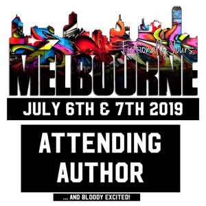 Fictionally Yours Melbourne attending author graphic