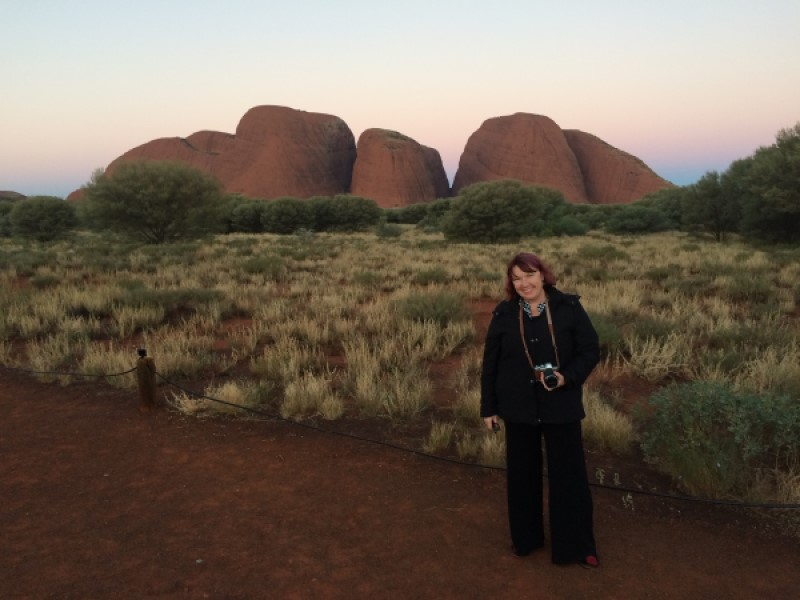 Author Fiona McArthur at KataTjuta