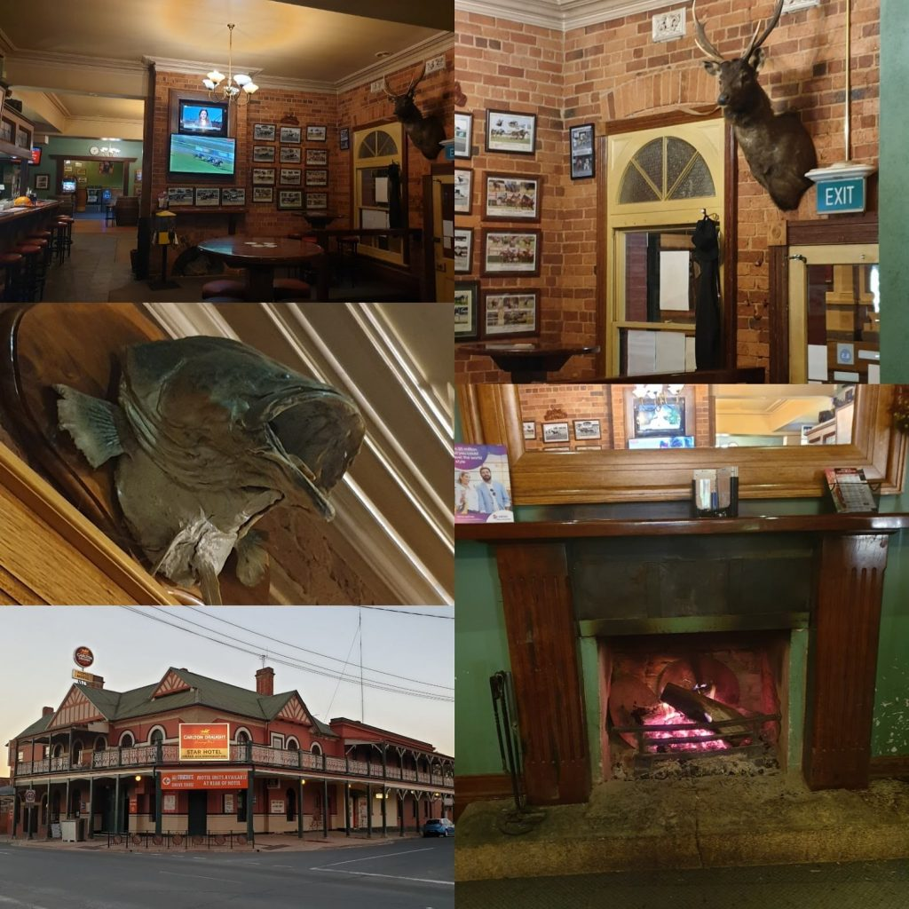 Collage of photos from Star Hotel, Rutherglen