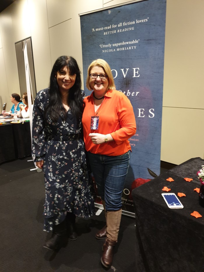 Me and gorgeous Tess Woods at Fictionally Yours, Melbourne 2019