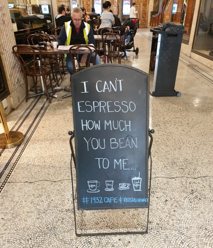 Melbourne coffee humour.