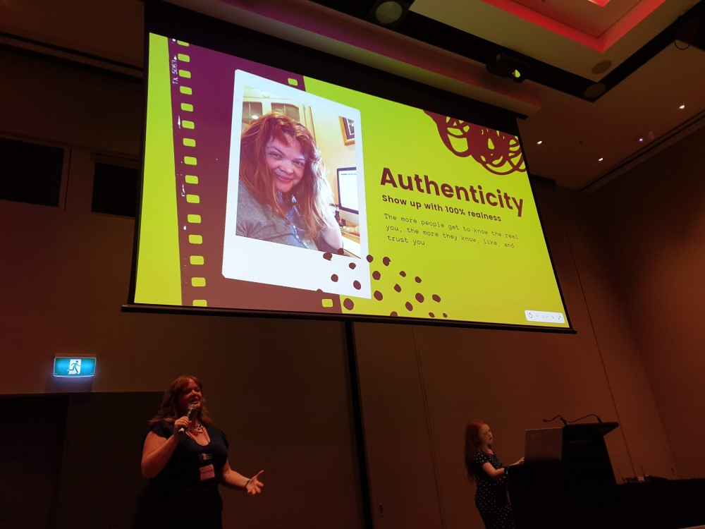 Emily Roach's breakout session on Standing Out on Social Media, 2019 Romance Writers of Australia conference