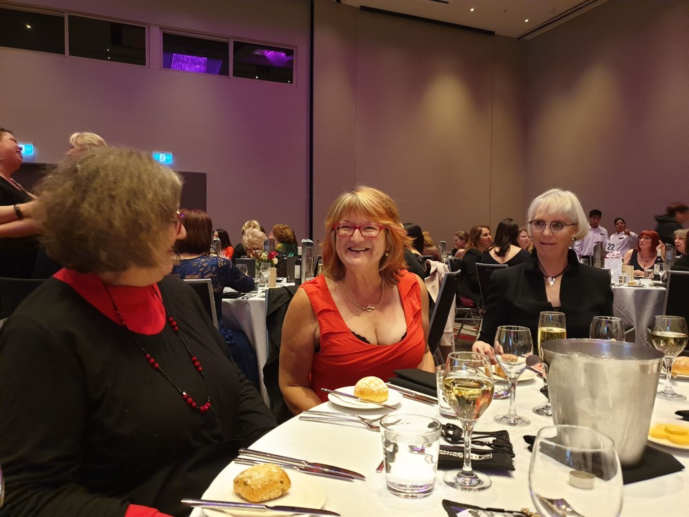 DB Tait, Trish Morey and Marion Lennox, 2019 Romance Writers of Australia conference