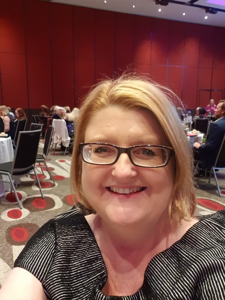 Cathryn Hein at the RWA Gala Dinner, 2019 Romance Writers of Australia conference