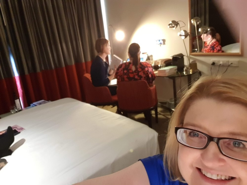 Gatecrashing Rachael Johns' book club live broadcast, 2019 Romance Writers of Australia conference
