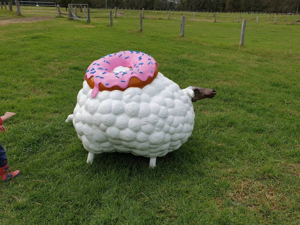 Sculpture on the Farm. Sticky Fleece by Greg Salter.