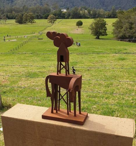 Sculpture on the Farm. Waiting for Rain by Jimmy Rix.