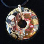Gustav Klimt porcelain pendant