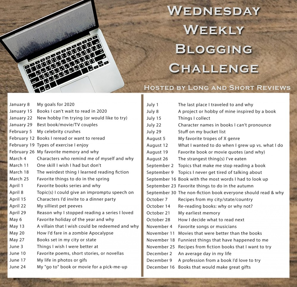 Wednesday Blogging Challenge - topics
