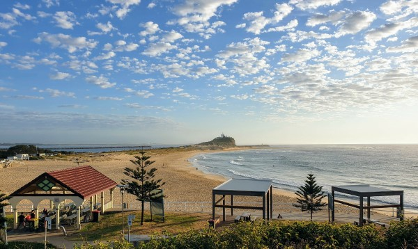Nobbys Beach on my morning walk
